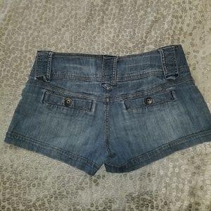 Shorts - MOSSIMO DISTRESSED DENIM BLUE JEANS SHORTS JR SZ 7